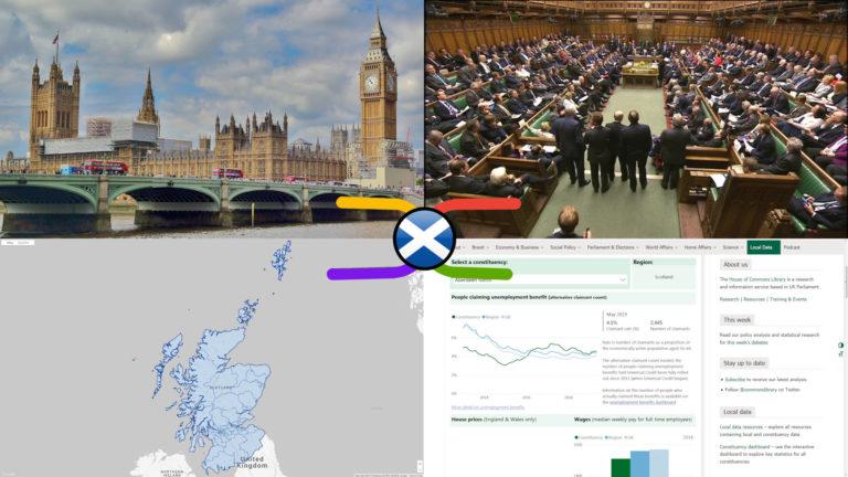 UK Parliament Scottish Constituencies – General, Geographic & Electoral Knowledge Atlas (14 Oct 2019)